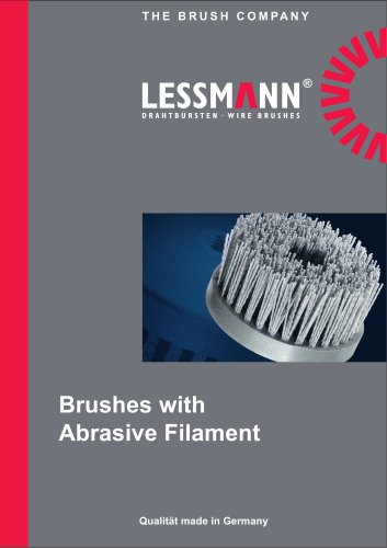 Brushes with abrsasive filaments