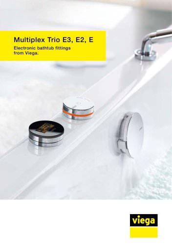 Multiplex Trio E3, E2, E. Electronic bathtub fittings from Viega.