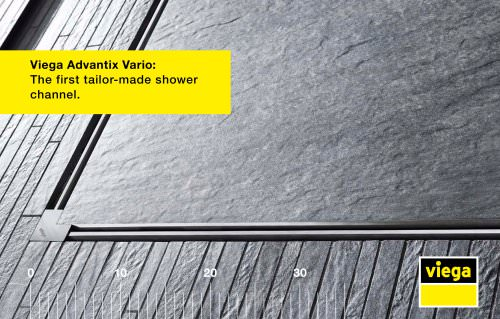 Viega Advantix Vario: The first tailor-made shower channel.
