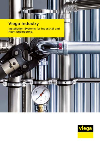Viega Industry Installation Systems for Industrial and Plant Engineering