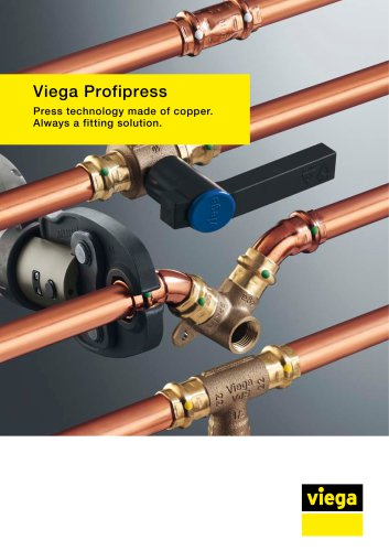 Viega Profipress Press technology made of copper. Always a fitting solution.