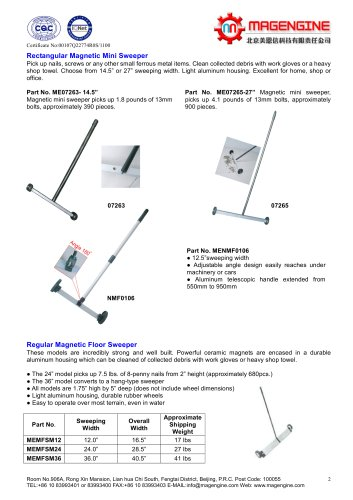 Magengine catalogue of magnetic mini sweeper