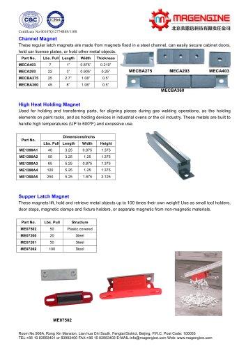 Magengine's Channel Magnet, High heat holding magnet, super latch magnet