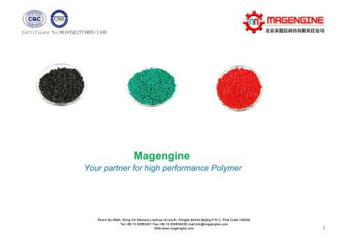 Magengine's plastic raw material of new polymer matrials, engineering plastics and specialty plastics