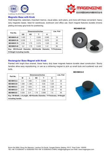 Magnetic base with Knob