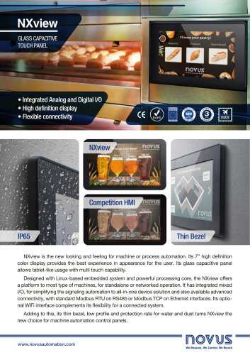 capacitive touch panel nxview