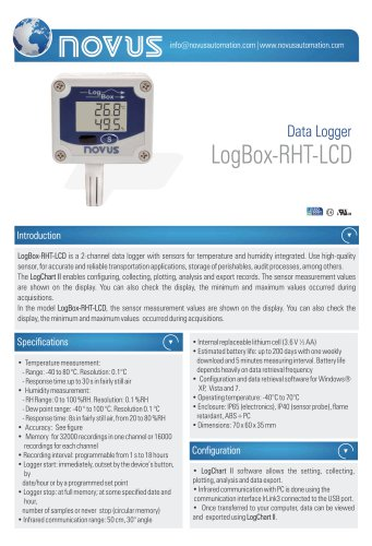 Data Logger LogBox-RHT-LCD