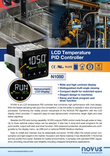 LCD temperature pid controller n1050