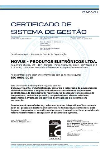 NOVUS ISO 9001