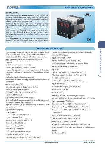 PROCESS INDICATOR - N1040i