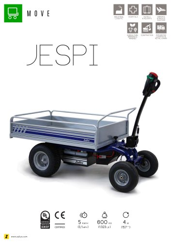 JESPI electric transport trolley