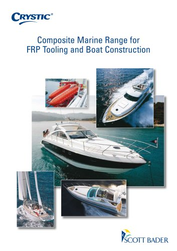 Composite Marine Range for FRP Tooling and Boat Construction