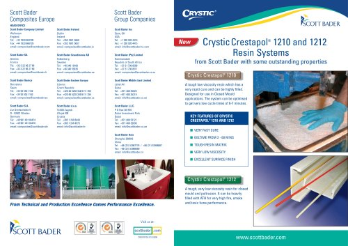 Crystic Crestapol 1210 and 1212 Resin Systems