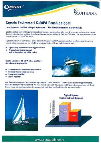Crystic Envirotec® LS 88PA Brush Gelcoat