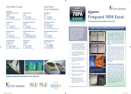 Crystic Fireguard 75PA Excel brochure