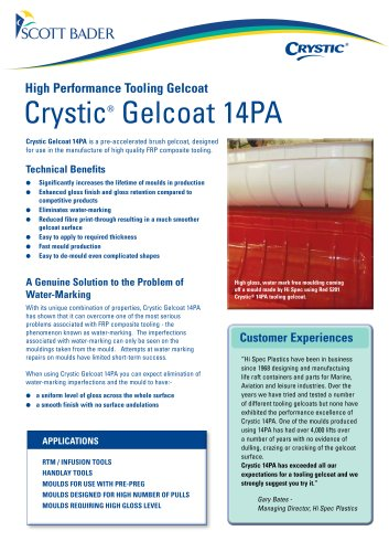 Crystic Gelcoat 14PA brochure