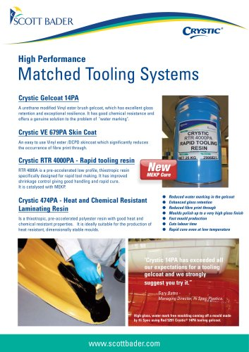 Crystic Matched Tooling Systems brochure