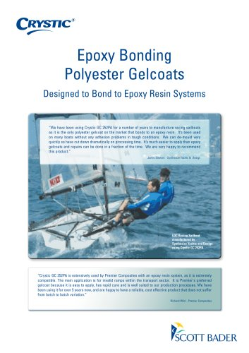 Epoxy Bonding Polyester Gelcoats brochure