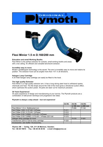 Flexi Minior 1.5 m D.160/200 mm