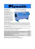 FLX 600/1100 Coolant or Oil Mist Filter - 1
