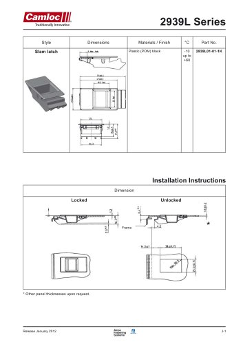2939l series tension latches