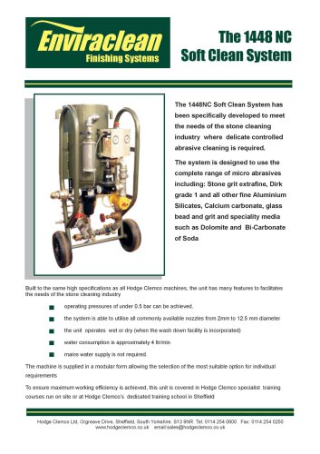 1448NC Soft Clean Blast Machine
