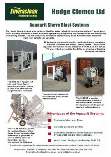 Aquagrit Blast Machines