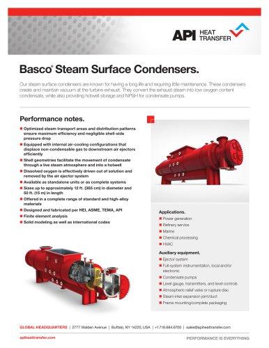 Steam Surface Condensers.
