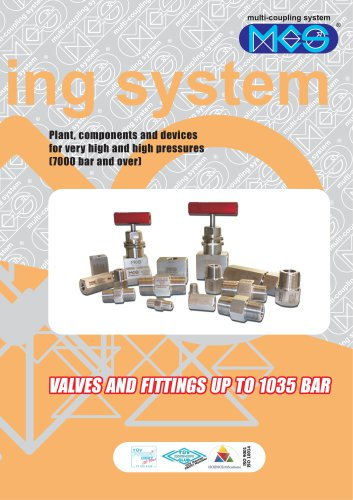 Valves fittings and tubing 700 - 1035 bar