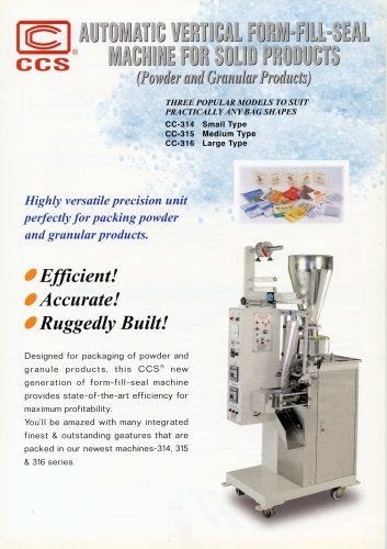 Automatic Vertical Form-Fill-Seal Machine For Solid Products