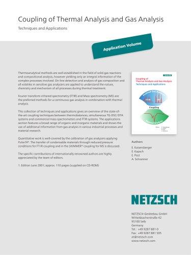 Coupling of Thermal Analysis and Gas Analysis