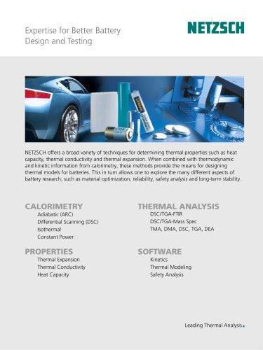 Expertise for Better Battery Design and Testing
