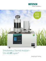 STA 449 F1 Jupiter® - product brochure