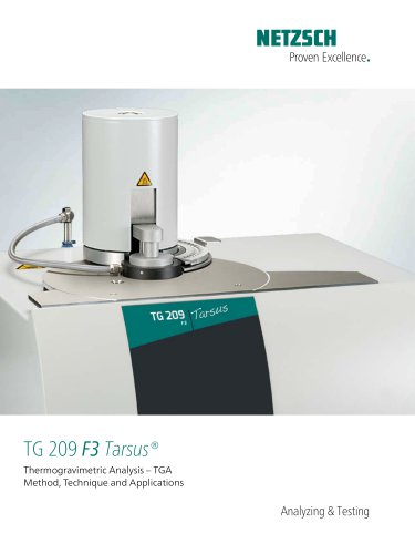TG 209 F3 Tarsus® - product brochure