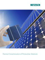 Thermal Characterization of Photovoltaic Materials - application brochure