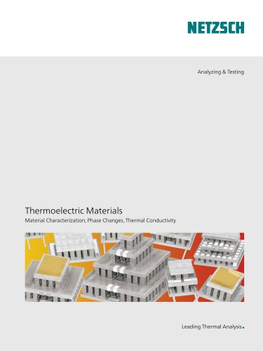 Thermoelectric Materials - application brochure