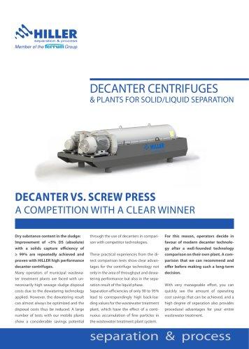 Decanter vs. Screw Press