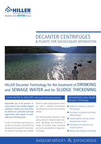 Drinking and Sewage Water for Sludge Thickening