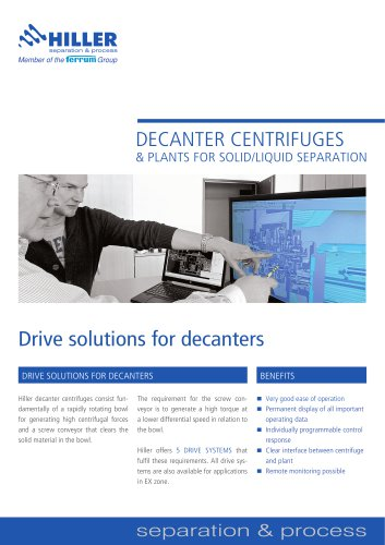 Drive Solutions for Decanters