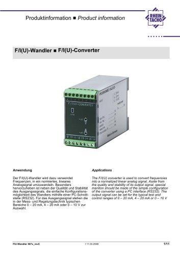 F/I F/U converter