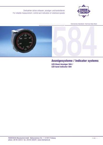 LED band indicator 584