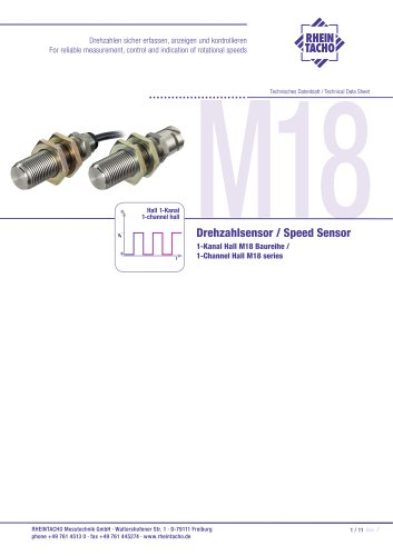 Sensor: 1-Channel M18 Stainless steel series