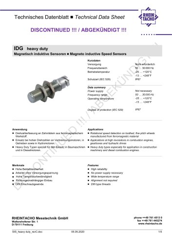 Sensor: 1-Channel Magneto-Inductive series