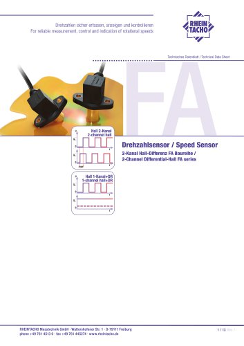 Sensor: 2-Channel Differential-Hall FA series