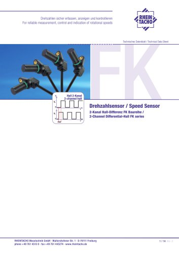 Sensor: 2-Channel Differential-Hall FK series