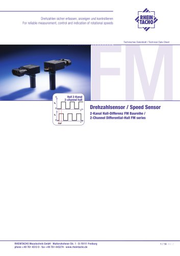 Sensor: 2-Channel Differential-Hall FM series