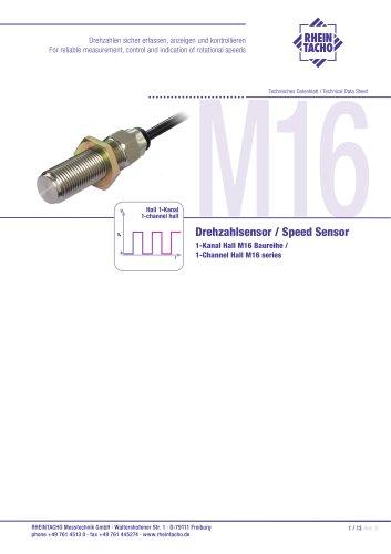 Sensors: 1-Channel Hall M16 series