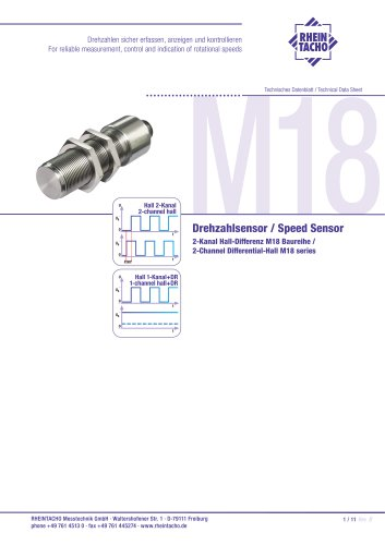 Sensors: 2-Channel Differential-Hall M18 series
