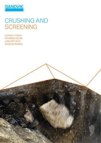 Sandvik crushing and screening