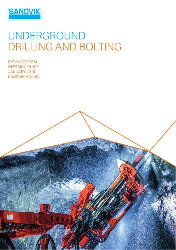 Sandvik underground drilling and bolting